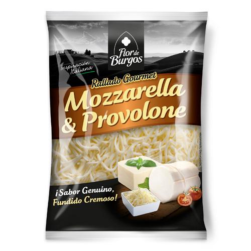 Queso rallado mozzarella y provolone 150 g 200g.