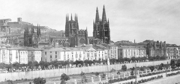 Burgos city old photo