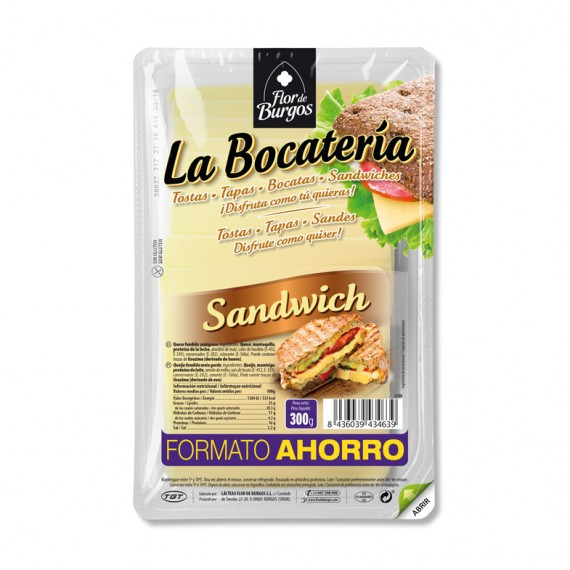 queso lonchas sandwich formato ahorro 300g