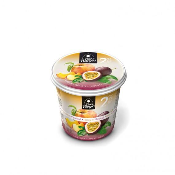 Producto yogur con frutas melocoton maracuya 650g