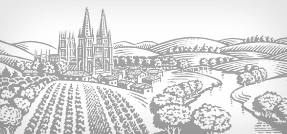Illustration of Burgos to express tradition