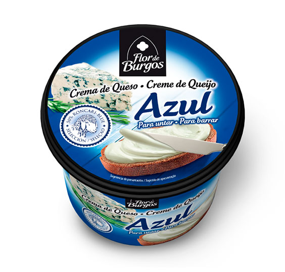 Producto Flor de Burgos crema de queso para untar: queso azul 500g