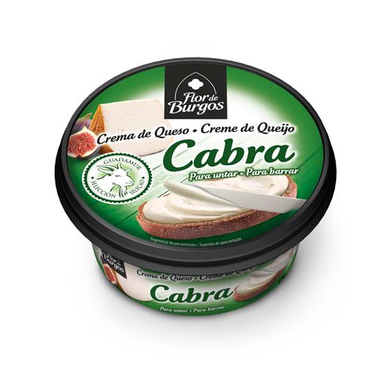 Producto Flor de Burgos crema de queso para untar: queso de cabra 125g