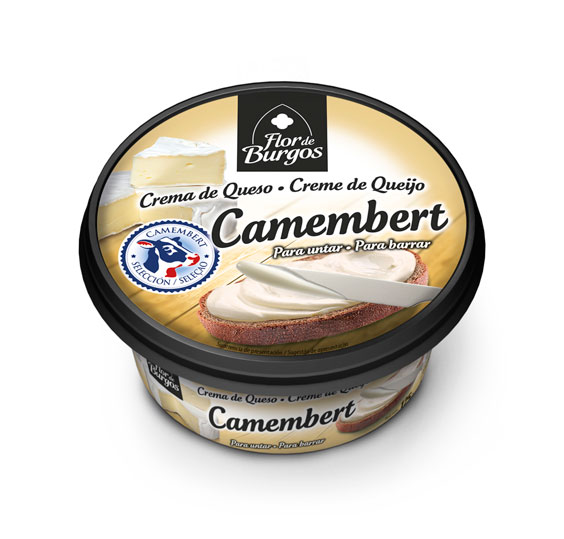 Producto Flor de Burgos crema de queso para untar: queso camembert 125g