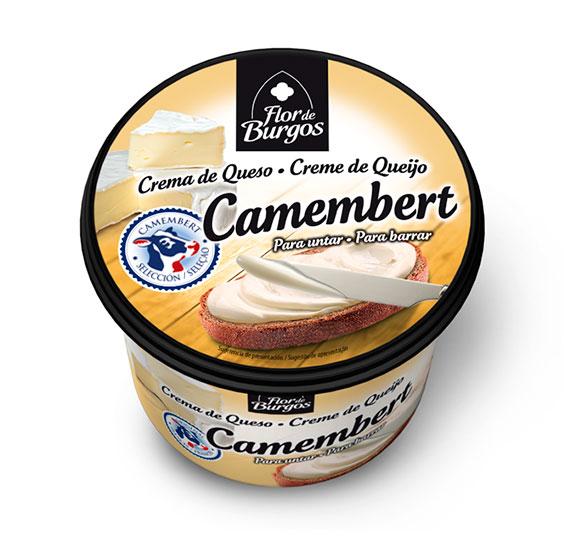 Producto Flor de Burgos crema de queso para untar: camembert 500g