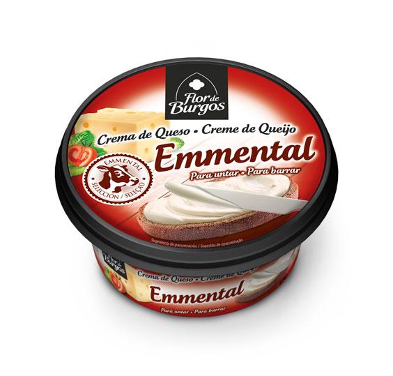 Producto Flor de Burgos crema de queso para untar: emmental 125g
