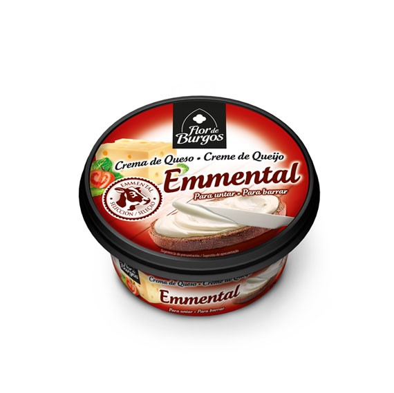 Flor de Burgos 125g spreadable emmental cream cheese