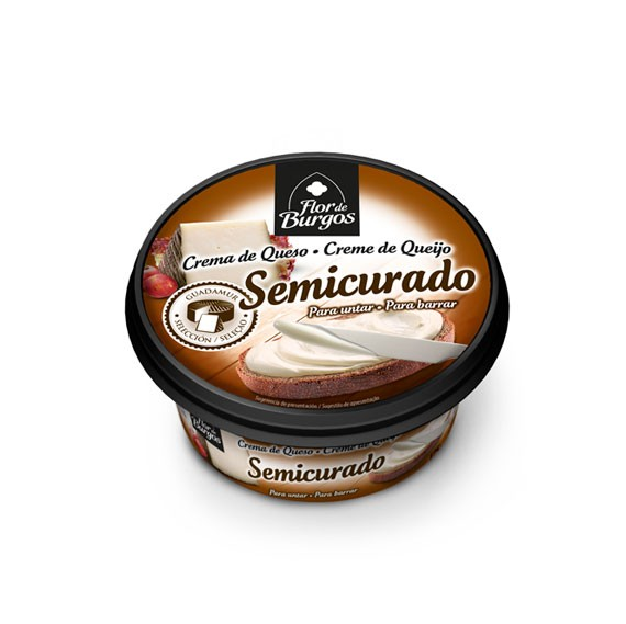 Flor de Burgos 125g spreadable semicured cream cheese