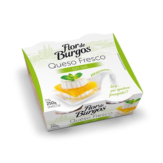 queso fresco suave sin sal 250g
