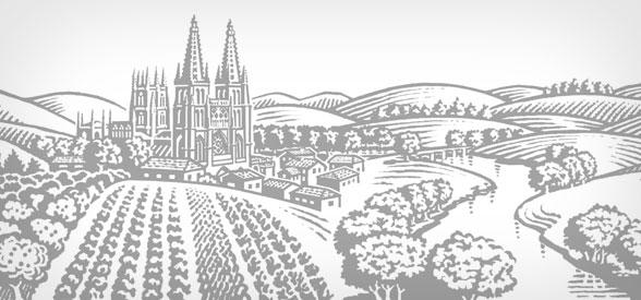 Illustration of Burgos to express tradition