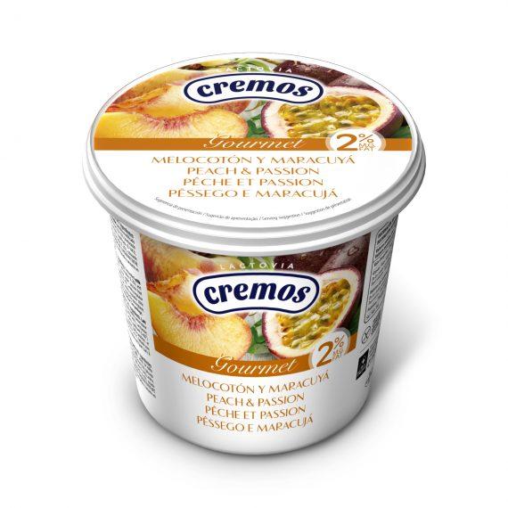 Producto cremos yogur con frutas melocoton maracuya 650g